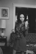 Young woman dressed for an evening out, Detroit, 1968