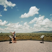 Couple Viewing Grand Tetons, Grand Tetons National Park, Wyoming