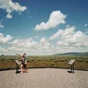 Couple Viewing Grand Tetons, Grand Tetons National Park, Wyoming