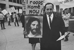 Protester at an anti-war rally, Detroit, 1968