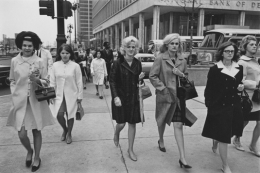 Office workers in downtown Detroit, Detroit, 1968
