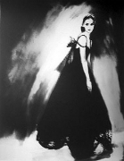 """""""Night Bloom"""", Dress by Chanel Haute Couture, Anneliese Seubert, Paris, The New York Times Magazine, March 31, 1996, gelatin silver print, 14 x 11 inches"""