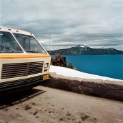 Motorhome at Overlook, Crater Lake National Park, Oregon