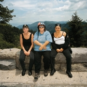 Three Women at Overlook, Great Smokey Mountains, North Carolina