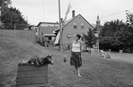 Woman with Cat, Fitchburg, Massachusetts, 1982