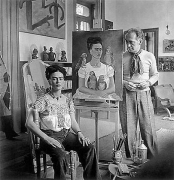 Frida Painting 'Me & my parrots', ca. 1930
