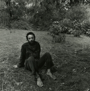 Haight Ashbury (man in park without shoes), 1968