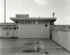 Highland Barber Shop, National City, 2019, gelatin silver contact print