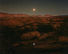 Moonrise over Pie Pan, Capital Reef National Park, Utah, 1977