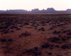 Monument Valley with Red String, Monument Valley, Utah, 1977, from Altered Landscapes