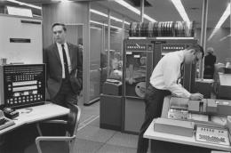 Computer room, Detroit, 1968