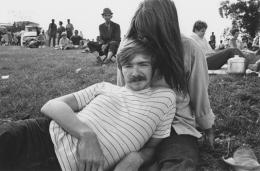 Couple picnicking, Detroit, 1968