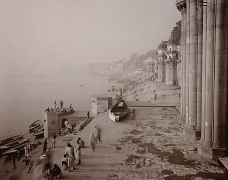 Benares, India, 1979, toned gelatin silver print, 12 x 10 inches