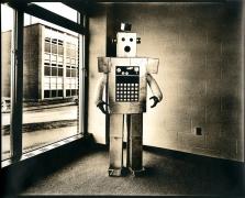 untitled (from the series, Uranium Robots), 1976, vintage gelatin silver print (Kodalith)