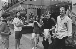 Teenagers on the street in downtown Detroit, Detroit, 1968