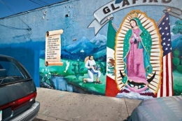 Virgin of Guadalupe and Autos, Los Angeles, 2011
