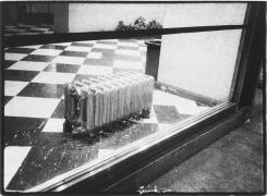 Radiator in the Window, 1976, vintage gelatin silver print (Itek print), 18 x 24 inches