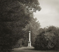 Column, Lacock Abbey, from the series In the Garden, platinum print, 16 x 18 1/2 inches