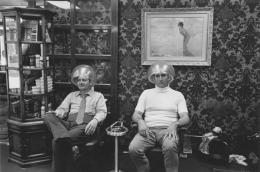 Men under hairdryers, Detroit, 1968