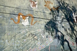 Ram Mural and Shadows, Los Angeles, California, 2011