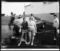 Jenny and Alta at the Deaf Church Car Wash, Brighton, New York, 1985, vintage gelatin silver print