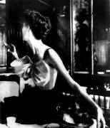 """Across the Restaurant"", Dress by Jacques Fath, Barbara Mullen, Le Grand Vefour, Paris, Harper's Bazaar, April 1949, gelatin silver print, 40 x 30 inches"