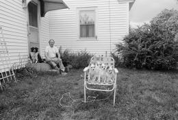 Bud with Samantha, Tanya, Rufus, Ruthie, and Tammy, Wolfeboro, New Hamshire, 1992