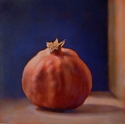 Still Life with Pomegranate, hand-colored gelatin silver print