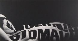 Typographic Nude, 1965, vintage gelatin silver print, 14 x 7 1/2 inches