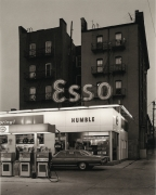 George Tice , Esso Station and Tenement House, Hoboken, NJ