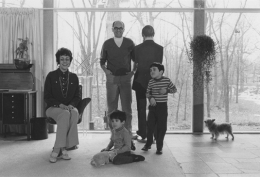 Gilbert and Lila Silverman with their children, Paul and Eric, Detroit, 1968