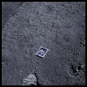 058, Image of Charles Duke's Family on Lunar Surface, Apollo 16, April 16-27, 1972, digital c-print, 24.5 x 24.5 inches