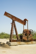 Oil Pump Jacks: McCamey, Texas, from the series,Beneath the Dirt of Great Men