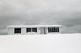 New Home in December, 1971, vintage gelatin silver print, 5 x 7 1/2 inches