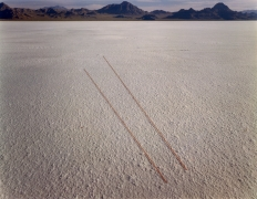 Tracks, Bonneville, Salt Flats, Utah, 1977, from Altered Landscapes