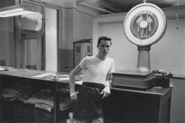 Typesetter at work, Detroit, 1968
