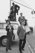 Newsmen at a public demonstration, Detroit, 1968