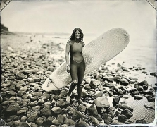 Joni Sternbach, Ditch Plains, Montauk, #3 Gillian, 2007, unique tintype, 8 x 10 inches