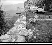Captured T-33, Gjirokastër, Albania, 1991, vintage gelatin silver print