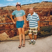 Roger Minick Uncle and Nephew at Sunset Point, Bryce Canyon National Park, Utah