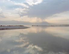 View of Salton Sea Looking West, Desert Beach, CA