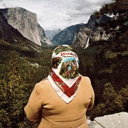 Woman with Scarf at Inspiration Point, Yosemite National Park, California