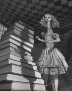 Curiouser and Curiouser, Alice's Adventures in Wonderland, 1998, gelatin silver print, 20 x 24 inches