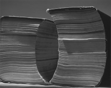 Two Tall Books, 2002, gelatin silver print, 20 x 24 inches
