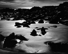 Brett Weston, Abstract Beach II, 1968, vintage gelatin silver print, 7 3/4 x 9 1/2 inches