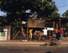 Bicycle Repair Shop, Jaimanitas, Cuba, 2006 chromogenic print