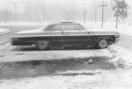 Elaine Mayes Car in Snow, Massachusetts