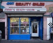 Jimmy's Beauty Salon, Pico Boulevard, Los Angeles, chromogenic print