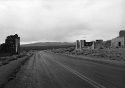 Rhyolite, Nevada (ghost town road),1982