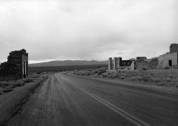 Rhyolite, Nevada (ghost town road),1982